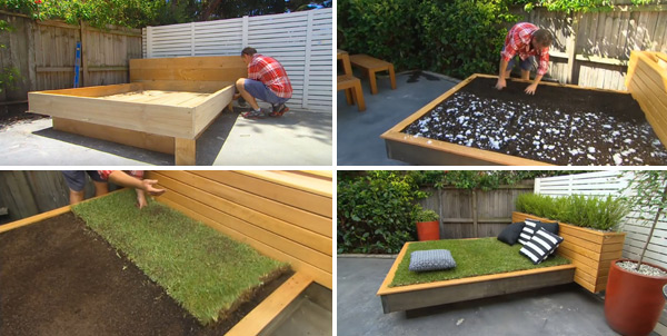 Build A Crazy Grass Day Bed Make You Get Close To Nature And Relax And Forget Everyday Worries Garden Ideas Outdoor Decor