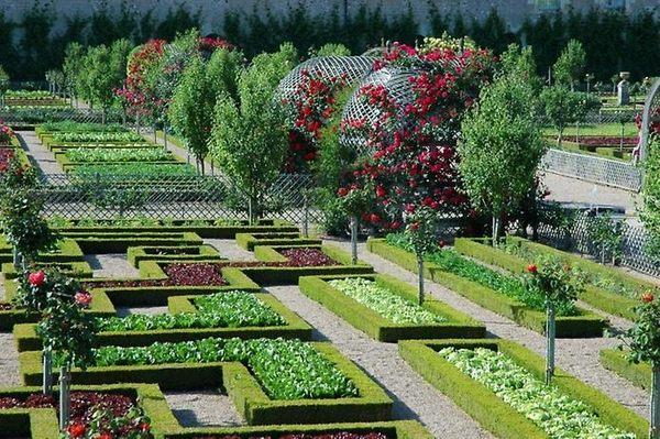 classic potager garden design ideas symmetrical geometric layout garden beds ideas