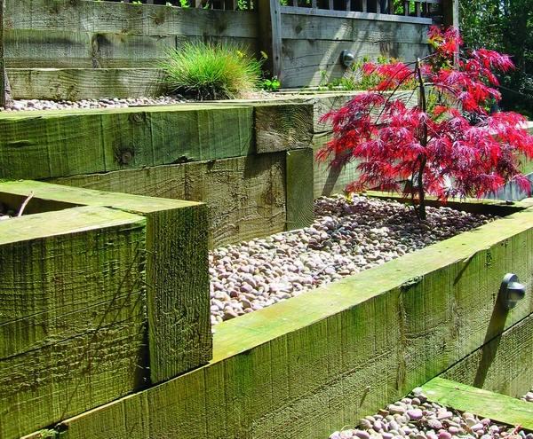 Wooden Garden Sleepers Yes Or No To Railway Sleepers In The Garden Garden Ideas Outdoor Decor