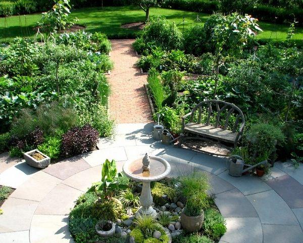potager garden plan ideas symmetrical layout focal point
