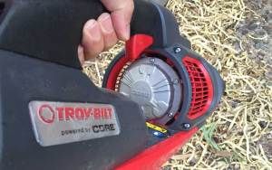 Troy-Bilt TB4300 cordless blower trigger