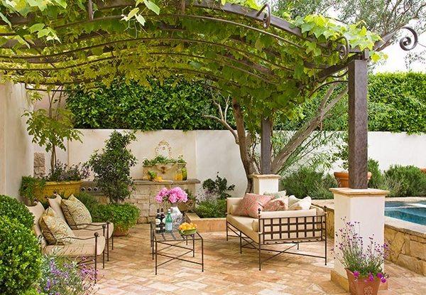 Beautiful Grape Arbor Mediterranean Patio Design Outdoor Furniture