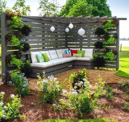 Cool Garden Ideas Adorable Home Design With Pebbles Benches