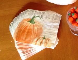 Autumn Paper Napkins as Inspiration - MattandShari.com