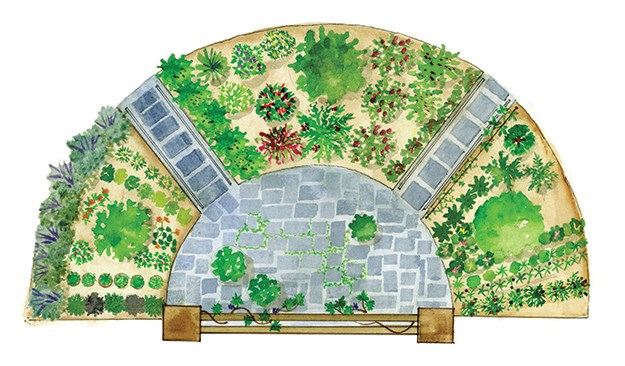 Growing our own vegetables in vegetable gardens garden for Garden designs with stone circles