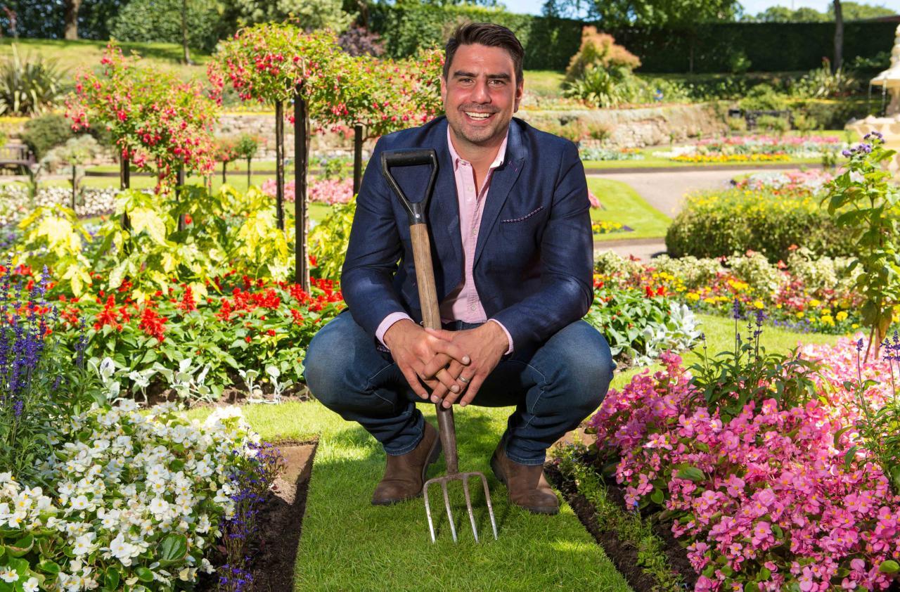 Chris Bavin, presenter of BBC Two's Britain in Bloom
