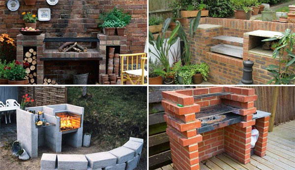 Cool Diy Backyard Brick Barbecue Grill