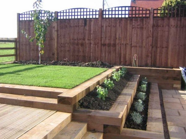 railway sleeper landscaping ideas retaining wall ideas wooden steps. How to use garden sleepers ...