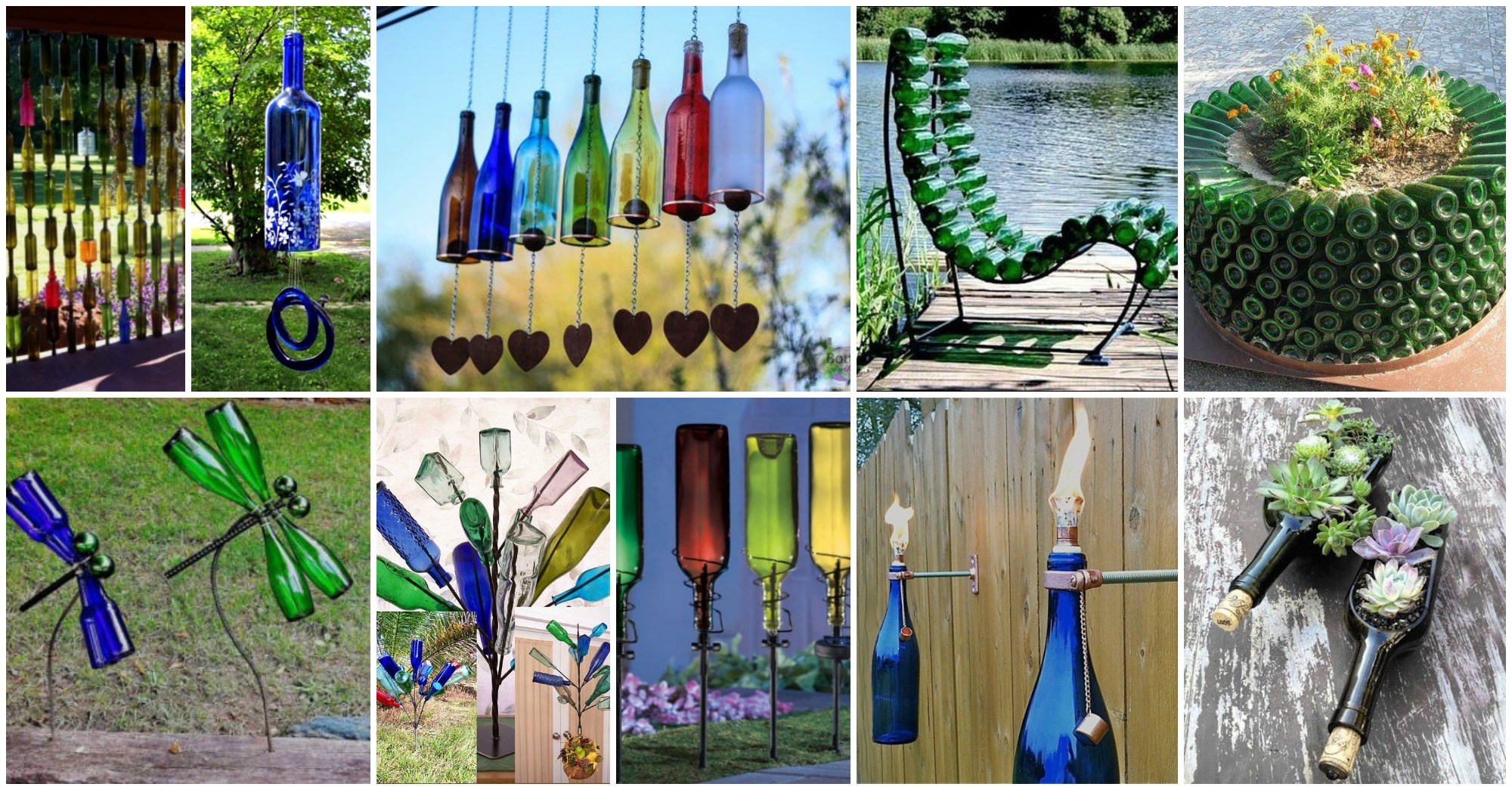 Gl Bottles Garden Decor That Will Steal The Show