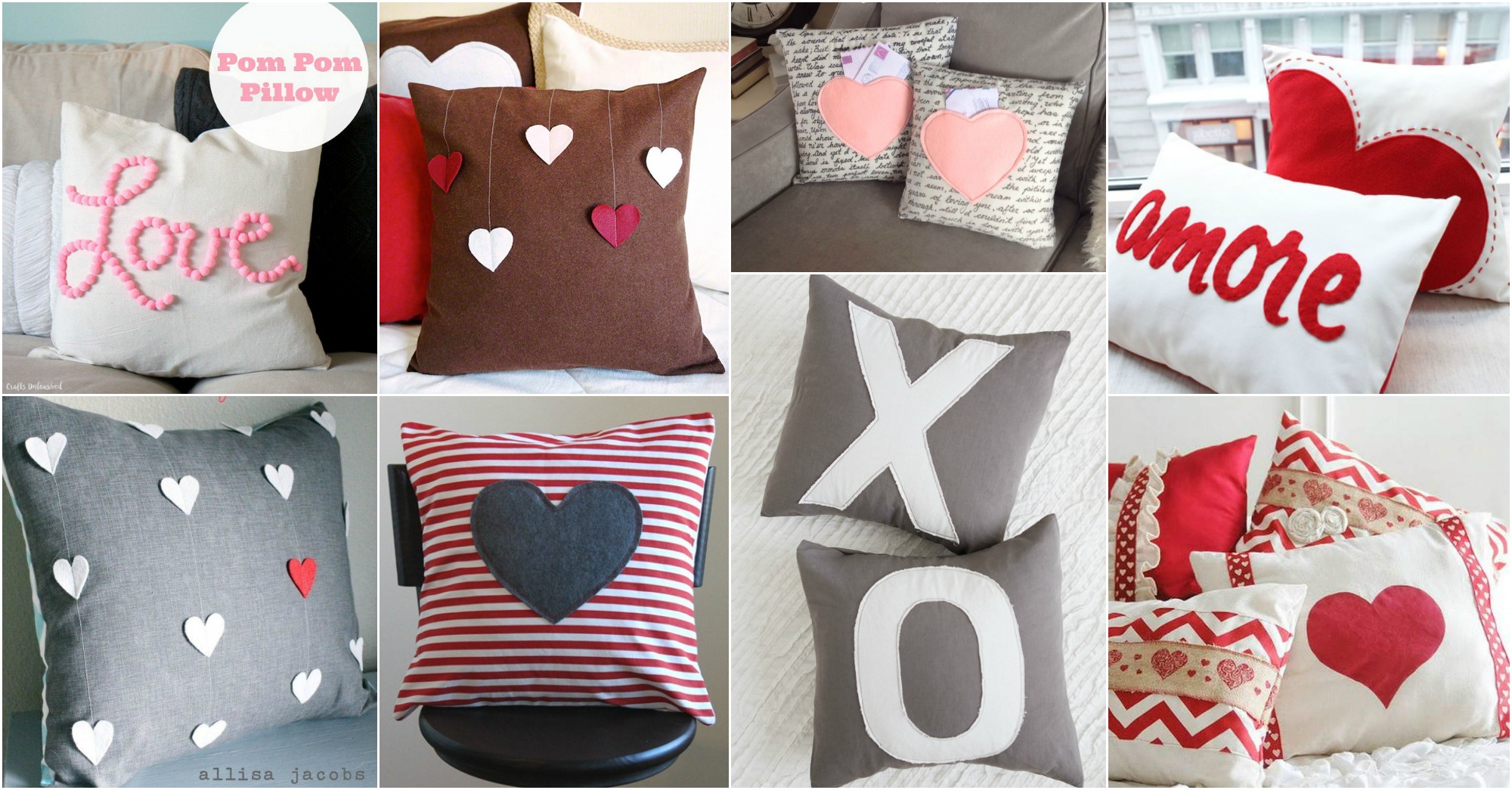 DIY Valentine's Day Pillows For Cozy